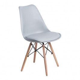 Židle DSW s čalouněným sedákem, světle šedá 113213 CULTY