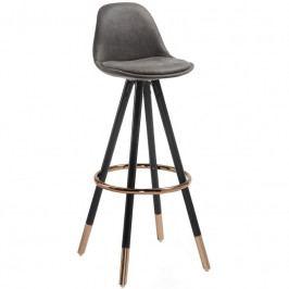 Barová židle LaForma Stag 75cm, tmavě šedá CC0379CWQ02 LaForma