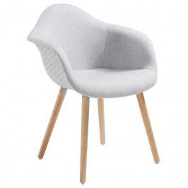 Židle LaForma Kenna, látka, světle šedá C631JQ14 LaForma