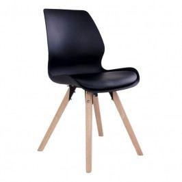 Jídelní židle Nordic Living Joona, černá/přírodní S1001061 Nordic Living