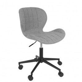 Kancelářská židle ZUIVER OMG, černá/šedá 1300001 Zuiver