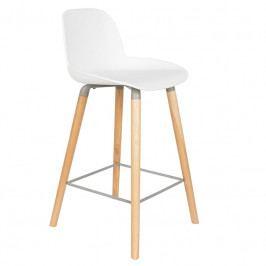 Barová židle ZUIVER ALBERT KUIP 65cm, bílá 1500051 Zuiver