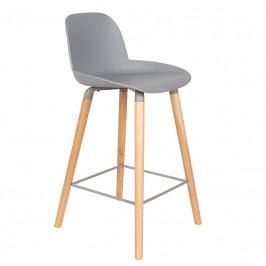 Barová židle ZUIVER ALBERT KUIP 65cm, světle šedá 1500053 Zuiver