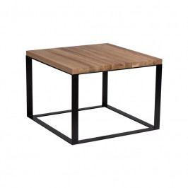 Konferenční stolek Aulum 60x60 cm, dub/černá 84265 CULTY