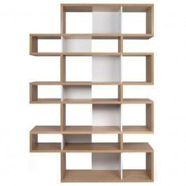 Knihovna Evora III. 220 cm, dub/bílá 9500.319723 Porto Deco