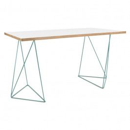 Kancelářský stůl Lagos 140 cm, zelená podnož, bílá 9500.053238 Porto Deco