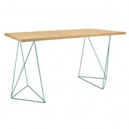 Kancelářský stůl Lagos 140 cm, zelená podnož, dub 9500.053245 Porto Deco