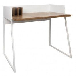 Kancelářský stůl Glaucia, ořechová dýha, bílá 9003.052958 Porto Deco