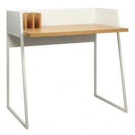 Kancelářský stůl Glaucia, dubová dýha, bílá 9003.052811 Porto Deco