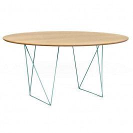 Jídelní stůl Matos 150 cm, zelená podnož, dub 9500.053580 Porto Deco