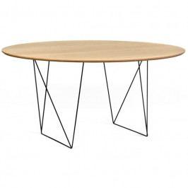 Jídelní stůl Matos 150 cm, černá podnož, dub 9500.053566 Porto Deco