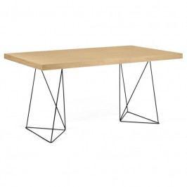 Kancelářský stůl Antonio 180 cm, černá/dub 9500.613807 Porto Deco