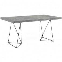 Kancelářský stůl Antonio 160 cm, černá/beton 9500.613982 Porto Deco