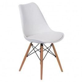 Židle DSW s čalouněným sedákem, bílá 113178 CULTY