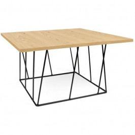 Konferenční stolek Rofus II, černá podnož, dub 9500.626883 Porto Deco