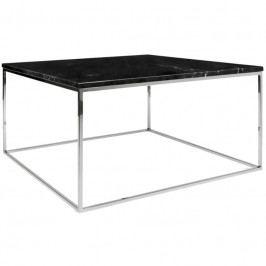 Konferenční stolek Amaro III, podnož chrom, černý mramor 9500.626203 Porto Deco