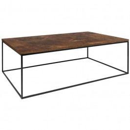 Konferenční stolek Amaro, černá podnož, rez 9500.626661 Porto Deco