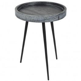 Odkládací stolek ZUIVER KARRARA, mramor, šedá 2300087 Zuiver