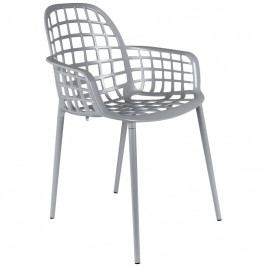 Židle ZUIVER ALBERT KUIP GARDEN, stohovatelná, světle šedá 1200171 Zuiver