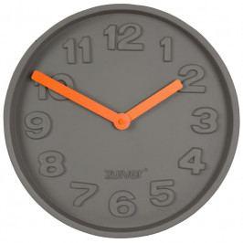 Nástěnné hodiny ZUIVER CONCRETE TIME, šedá/oranžová S8500027 Zuiver
