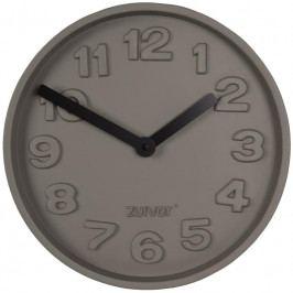 Nástěnné hodiny ZUIVER CONCRETE TIME, šedá/černá 8500028 Zuiver