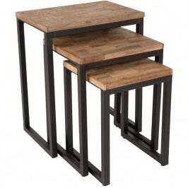 Set odkládacích stolků WLL SURI, teakové dřevo 2300057 White Label Living