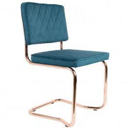 Jídelní židle ZUIVER DIAMOND KINK, měď, tmavě zelená 1100276 Zuiver