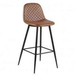 Barová židle Wanda, ekokůže, hnědá/černá SCHDNH000017716 SCANDI
