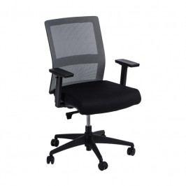 Kancelářská židle Milneo, látka, šedá/černá 111773 CULTY