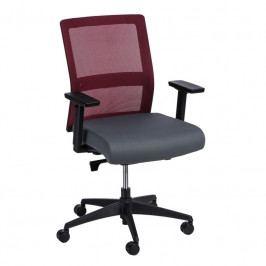 Kancelářská židle Milneo, látka, červená/šedá 111801 CULTY