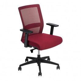 Kancelářská židle Milneo, látka, červená/červená 111794 CULTY
