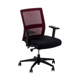 Kancelářská židle Milneo, látka, červená/černá 111808 CULTY
