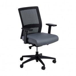 Kancelářská židle Milneo, látka, černá/šedá 111759 CULTY