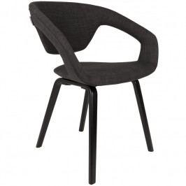 Jídelní židle ZUIVER FLEXBACK, černá podnož, tmavě šedá 1200098 Zuiver