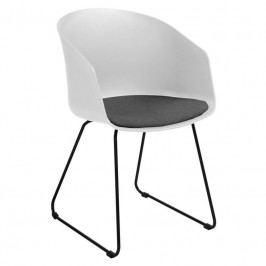 Jídelní židle Parley, bílá/černá SCHDN22258-12 SCANDI