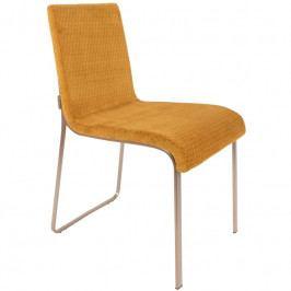 Jídelní židle DUTCHBONE FLOR, okrová 1100291 Dutchbone