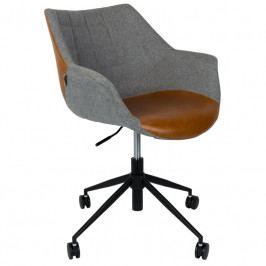 Kancelářská židle ZUIVER DOULTON, látka, ekokůže 1300003 Zuiver