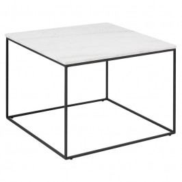 Konferenční stolek Morgan 60x60 cm, mramor, bílá SCHDNH000017592 SCANDI