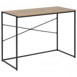 Pracovní stůl Darila 100 cm, dub/černá SCHDN0000076368 SCANDI