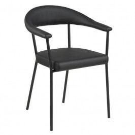 Jídelní židle Gordon, ekokůže, černá SCHDN0000074193 SCANDI