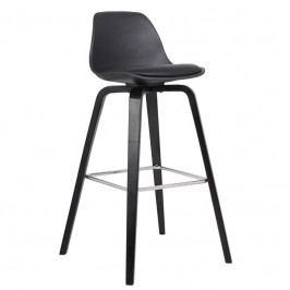 Barová židle Kaira, černá/černá SCHDN22201-11 SCANDI