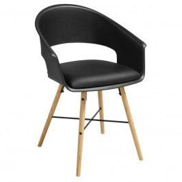 Židle Bradley, černá, buk SCHDN22322-1 SCANDI