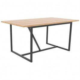 Jídelní stůl Nero 160 cm, černá/dub SCHDN92070-1 SCANDI