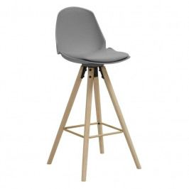 Barová židle Hannah 75,5 cm, šedá SCHDN95673-5 SCANDI