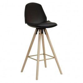 Barová židle Hannah 75,5 cm, černá SCHDN95673-1 SCANDI