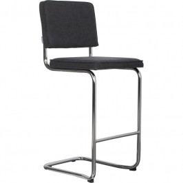 Barová židle ZUIVER RIDGE KINK, vintage tmavě šedá 1500033 Zuiver