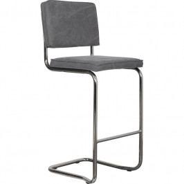 Barová židle ZUIVER RIDGE KINK, vintage šedá 1500032 Zuiver