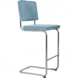 Barová židle ZUIVER RIDGE KINK RIB, modrá 1500006 Zuiver