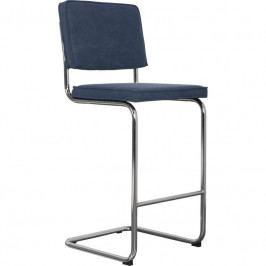 Barová židle ZUIVER RIDGE, vintage modrá 1500026 Zuiver