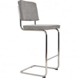 Barová židle ZUIVER RIDGE RIB, světle šedá 1500022 Zuiver